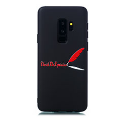 Handyhülle Silikon Hülle Gummi Schutzhülle Modisch Muster S01 für Samsung Galaxy S9 Plus Rot