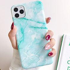 Handyhülle Silikon Hülle Gummi Schutzhülle Modisch Muster S02 für Apple iPhone 11 Pro Cyan