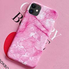 Handyhülle Silikon Hülle Gummi Schutzhülle Modisch Muster S02 für Apple iPhone 11 Rosa