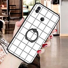 Handyhülle Silikon Hülle Gummi Schutzhülle Modisch Muster S02 für Huawei P20 Lite Weiß