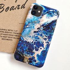 Handyhülle Silikon Hülle Gummi Schutzhülle Modisch Muster S03 für Apple iPhone 11 Blau
