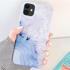 Handyhülle Silikon Hülle Gummi Schutzhülle Modisch Muster S04 für Apple iPhone 11 Blau