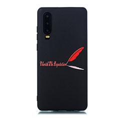 Handyhülle Silikon Hülle Gummi Schutzhülle Modisch Muster S06 für Huawei P30 Rot