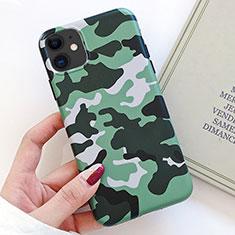 Handyhülle Silikon Hülle Gummi Schutzhülle Modisch Muster S09 für Apple iPhone 11 Grün
