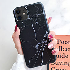 Handyhülle Silikon Hülle Gummi Schutzhülle Modisch Muster S10 für Apple iPhone 11 Schwarz