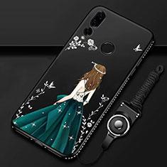 Handyhülle Silikon Hülle Gummi Schutzhülle Motiv Kleid Mädchen K01 für Huawei Honor 20 Lite Grün