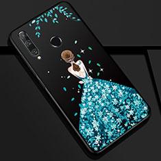 Handyhülle Silikon Hülle Gummi Schutzhülle Motiv Kleid Mädchen Z01 für Huawei Honor 20i Blau