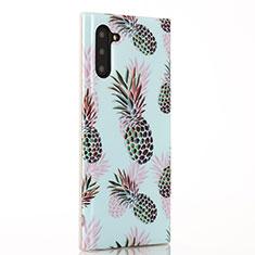 Handyhülle Silikon Hülle Gummi Schutzhülle Obst S01 für Samsung Galaxy Note 10 Cyan