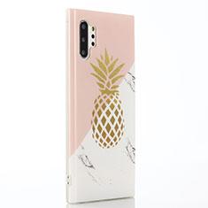 Handyhülle Silikon Hülle Gummi Schutzhülle Obst S01 für Samsung Galaxy Note 10 Plus 5G Rosa