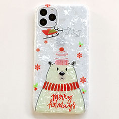 Handyhülle Silikon Hülle Gummi Schutzhülle Weihnachten für Apple iPhone 11 Pro Weiß