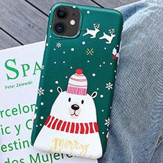 Handyhülle Silikon Hülle Gummi Schutzhülle Weihnachten S01 für Apple iPhone 11 Grün