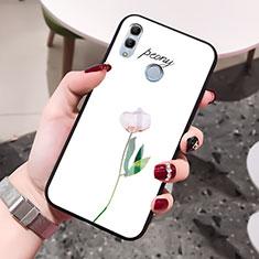 Handyhülle Silikon Hülle Rahmen Schutzhülle Spiegel Blumen für Huawei Honor 10 Lite Weiß