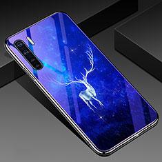 Handyhülle Silikon Hülle Rahmen Schutzhülle Spiegel Blumen für Oppo A91 Plusfarbig