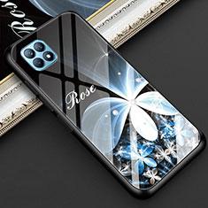 Handyhülle Silikon Hülle Rahmen Schutzhülle Spiegel Blumen für Oppo Reno4 SE 5G Schwarz