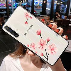 Handyhülle Silikon Hülle Rahmen Schutzhülle Spiegel Blumen für Realme X3 SuperZoom Rosa