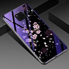 Handyhülle Silikon Hülle Rahmen Schutzhülle Spiegel Blumen K01 für Huawei Mate 20 Pro Plusfarbig