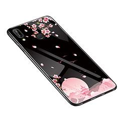 Handyhülle Silikon Hülle Rahmen Schutzhülle Spiegel Blumen S01 für Huawei P20 Lite Schwarz