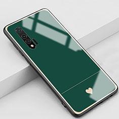 Handyhülle Silikon Hülle Rahmen Schutzhülle Spiegel Liebe Herz für Huawei Nova 6 5G Grün