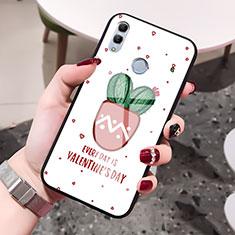 Handyhülle Silikon Hülle Rahmen Schutzhülle Spiegel Liebe Herz S01 für Huawei Honor 10 Lite Rot