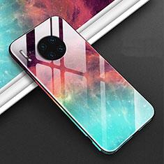 Handyhülle Silikon Hülle Rahmen Schutzhülle Spiegel Modisch Muster C01 für Huawei Mate 30E Pro 5G Rot