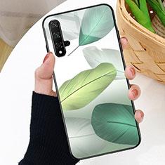 Handyhülle Silikon Hülle Rahmen Schutzhülle Spiegel Modisch Muster D01 für Huawei Nova 5T Grün