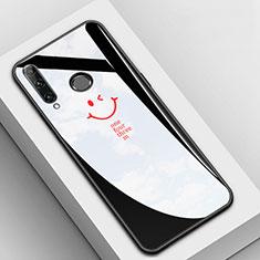 Handyhülle Silikon Hülle Rahmen Schutzhülle Spiegel Modisch Muster für Huawei Enjoy 9s Schwarz