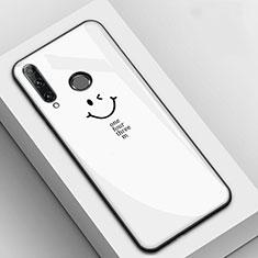 Handyhülle Silikon Hülle Rahmen Schutzhülle Spiegel Modisch Muster für Huawei Enjoy 9s Weiß