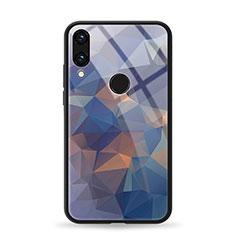 Handyhülle Silikon Hülle Rahmen Schutzhülle Spiegel Modisch Muster für Huawei Honor 8X Blau