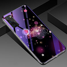 Handyhülle Silikon Hülle Rahmen Schutzhülle Spiegel Modisch Muster für Huawei Honor V30 Pro 5G Violett
