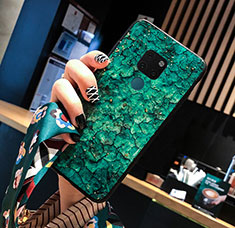 Handyhülle Silikon Hülle Rahmen Schutzhülle Spiegel Modisch Muster für Huawei Mate 20 Grün