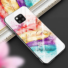 Handyhülle Silikon Hülle Rahmen Schutzhülle Spiegel Modisch Muster für Huawei Mate 20 Pro Plusfarbig