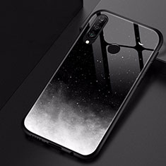 Handyhülle Silikon Hülle Rahmen Schutzhülle Spiegel Modisch Muster für Huawei Nova 4e Schwarz