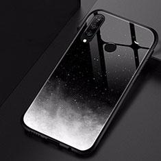 Handyhülle Silikon Hülle Rahmen Schutzhülle Spiegel Modisch Muster für Huawei P30 Lite Schwarz