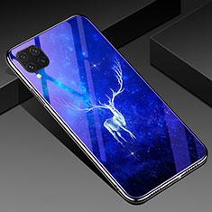 Handyhülle Silikon Hülle Rahmen Schutzhülle Spiegel Modisch Muster für Huawei P40 Lite Blau