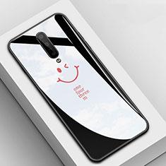Handyhülle Silikon Hülle Rahmen Schutzhülle Spiegel Modisch Muster für OnePlus 7 Pro Schwarz