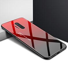 Handyhülle Silikon Hülle Rahmen Schutzhülle Spiegel Modisch Muster für OnePlus 8 Pro Rot