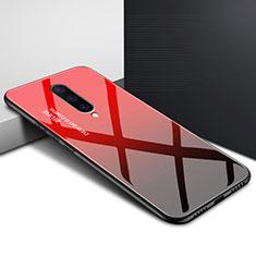 Handyhülle Silikon Hülle Rahmen Schutzhülle Spiegel Modisch Muster für OnePlus 8 Rot