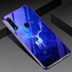 Handyhülle Silikon Hülle Rahmen Schutzhülle Spiegel Modisch Muster für Oppo A31 Blau