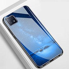 Handyhülle Silikon Hülle Rahmen Schutzhülle Spiegel Modisch Muster für Oppo A73 5G Blau