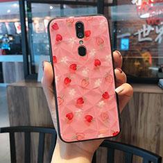 Handyhülle Silikon Hülle Rahmen Schutzhülle Spiegel Modisch Muster für Oppo A9 Pink
