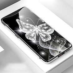 Handyhülle Silikon Hülle Rahmen Schutzhülle Spiegel Modisch Muster für Oppo Find X Schwarz