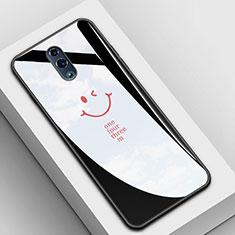 Handyhülle Silikon Hülle Rahmen Schutzhülle Spiegel Modisch Muster für Oppo Reno Schwarz