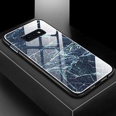 Handyhülle Silikon Hülle Rahmen Schutzhülle Spiegel Modisch Muster für Samsung Galaxy S10e Blau