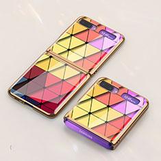 Handyhülle Silikon Hülle Rahmen Schutzhülle Spiegel Modisch Muster für Samsung Galaxy Z Flip Bunt