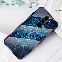 Handyhülle Silikon Hülle Rahmen Schutzhülle Spiegel Modisch Muster für Xiaomi Redmi Note 8 Pro Blau