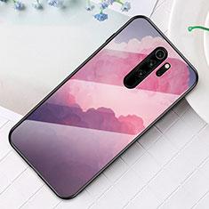 Handyhülle Silikon Hülle Rahmen Schutzhülle Spiegel Modisch Muster für Xiaomi Redmi Note 8 Pro Violett