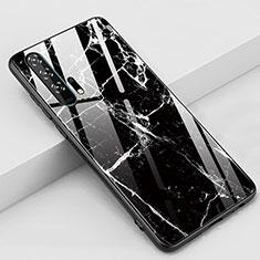 Handyhülle Silikon Hülle Rahmen Schutzhülle Spiegel Modisch Muster K01 für Huawei Honor 20 Pro Schwarz