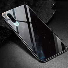 Handyhülle Silikon Hülle Rahmen Schutzhülle Spiegel Modisch Muster K01 für Huawei P30 Schwarz