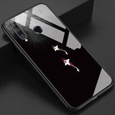 Handyhülle Silikon Hülle Rahmen Schutzhülle Spiegel Modisch Muster K03 für Huawei Honor 20 Lite Grau