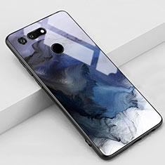 Handyhülle Silikon Hülle Rahmen Schutzhülle Spiegel Modisch Muster K03 für Huawei Honor V20 Grau